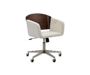 CB2 Wood Back Office Chair