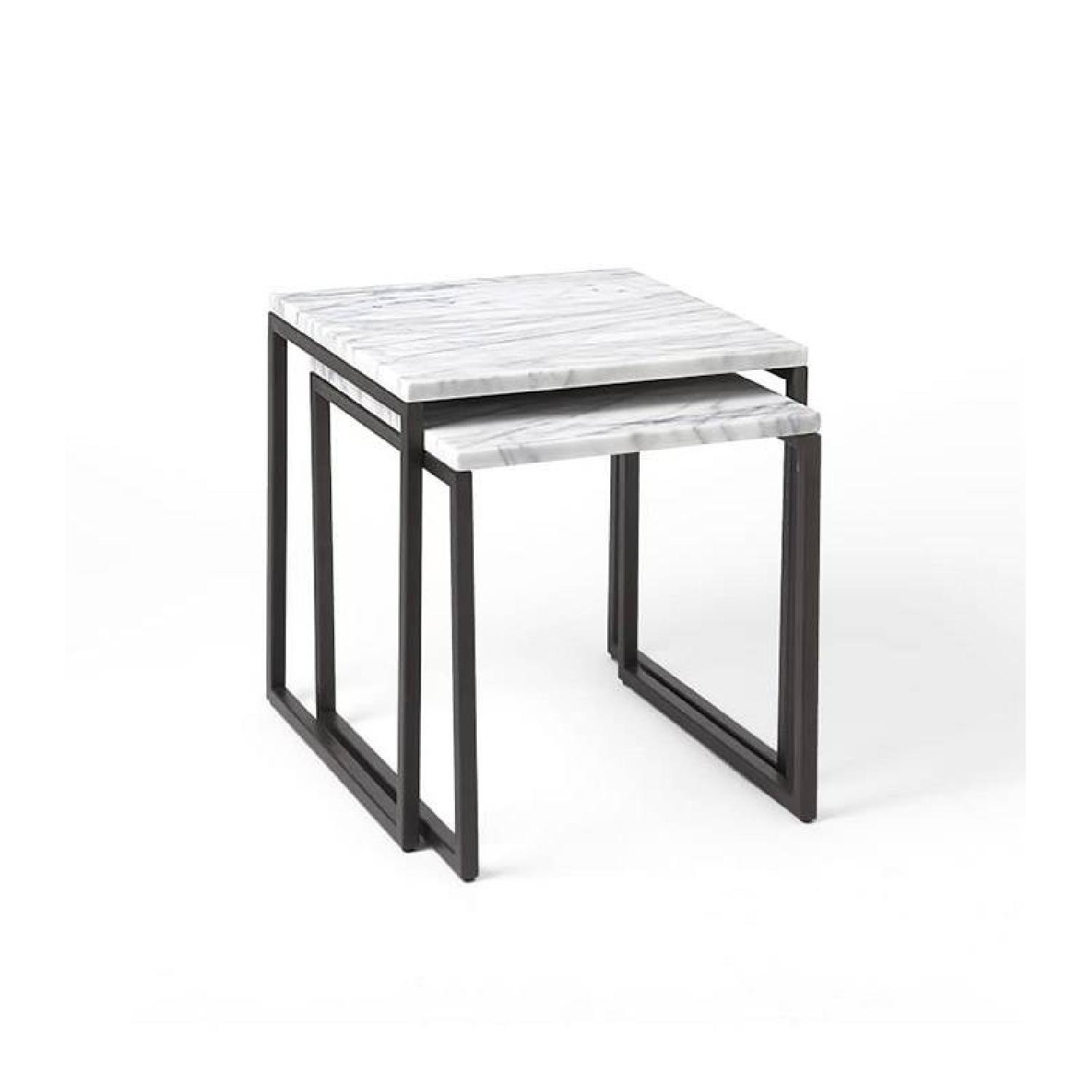 West Elm Box Frame Marble Nesting Tables