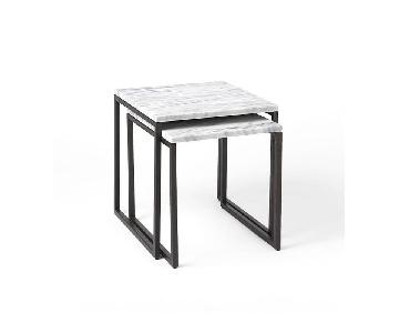 West Elm Box Frame Marble Nesting Tables