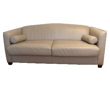 Bloomingdale's Leather Sleeper Sofa