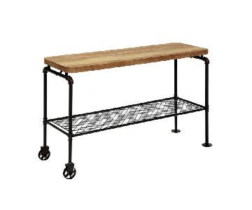 Furniture of America Galbus Industrial Antique Sofa Table