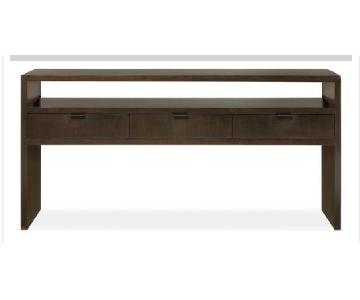 Room & Board Walnut Console Table/TV Stand