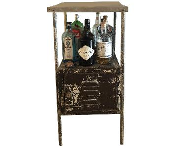 Vintage Iron Side Table/Bar