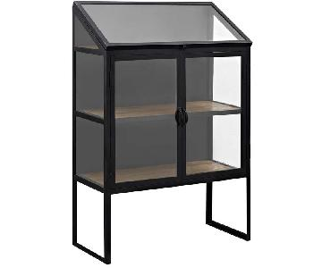 Manhattan Home Design Settle Cabinet in Black