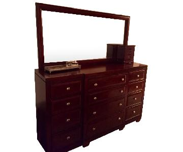 Raymour & Flanigan 12-Drawer Dresser w/ Mirror