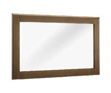 Manhattan Home Design Wood Frame Mirror in Chestnut