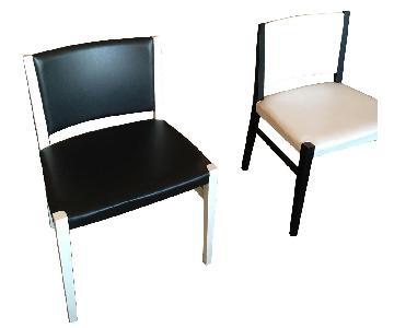 Ligne Roset Black & White Dining Chairs
