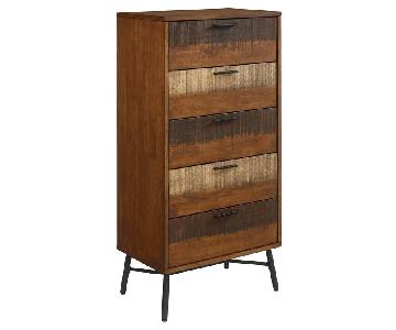 Manhattan Home Design Rustic Wood Chest in Walnut