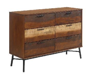 Manhattan Home Design Rustic Wood Dresser in Walnut