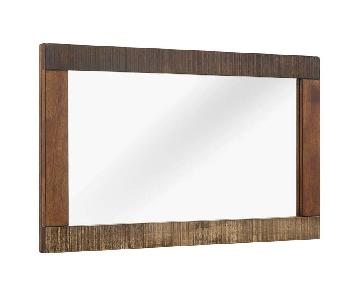 Manhattan Home Design Rustic Wood Frame Mirror in Walnut