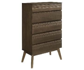 Manhattan Home Design Everly Wood Chest in Walnut