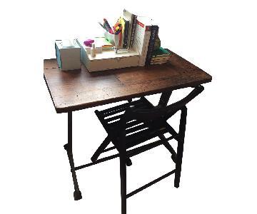 Vintage Wooden Writing Desk