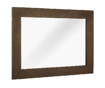 Manhattan Home Design Woof Frame Mirror in Walnut