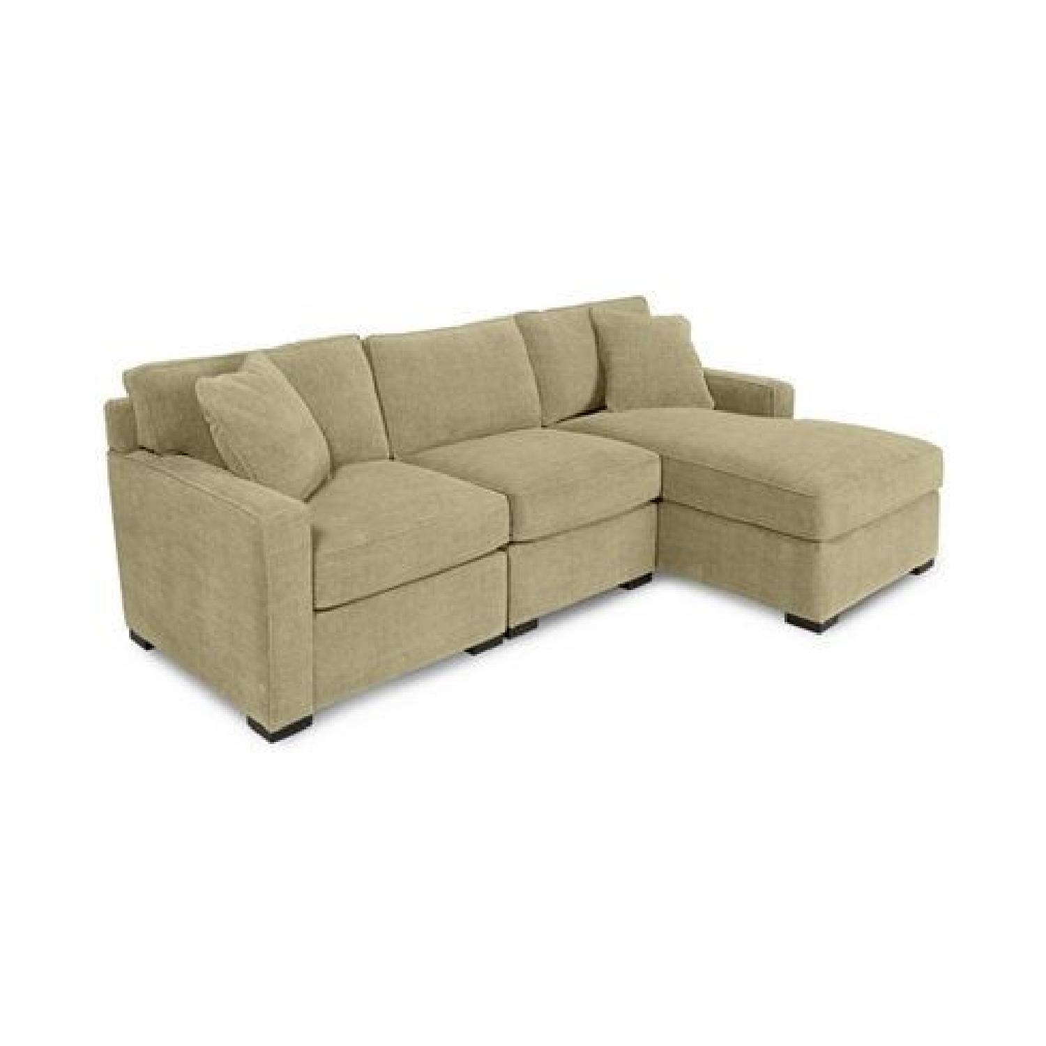 Picture of: Macy S Radley Olive Green 3 Piece Sectional Sofa Aptdeco