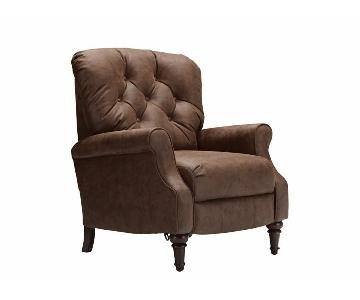 Raymour & Flanigan Kasson Reclining Leather Chair