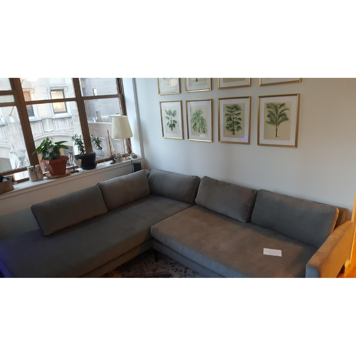 West Elm Andes Extra Deep Sectional Sofa W Terminal Chaise Aptdeco