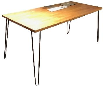 Custom Made Desk w/ Eames Paperclip Legs