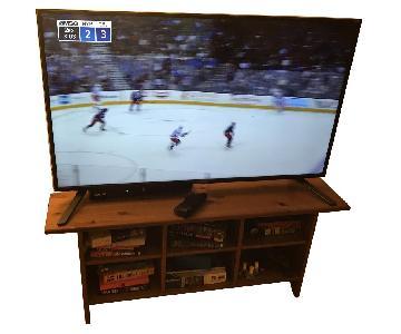Wood TV Stand/Coffee Table w/ Cubbie Storage