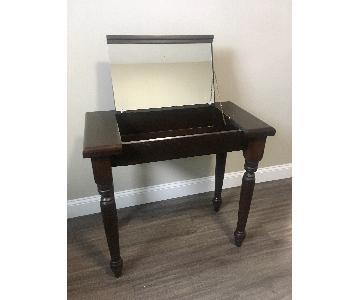 Gothic Cabinet Craft Dark Wood Vanity Table