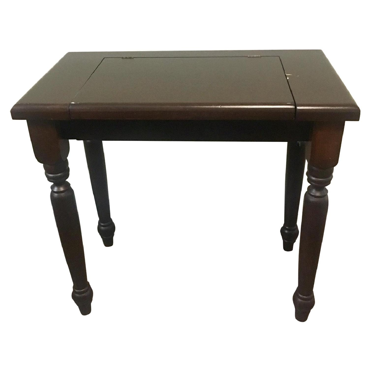 Gothic Cabinet Craft Dark Wood Vanity Table