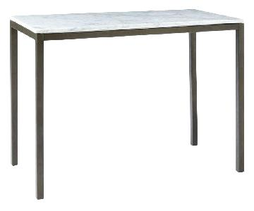 West Elm Marble High Top Counter Table