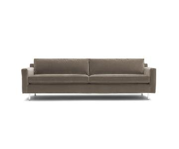 Mitchell Gold + Bob Williams Hunter Sofa in Mohair Steel