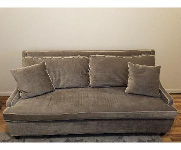 Carlyle Light Green/Gray Velvet Sleeper Sofa