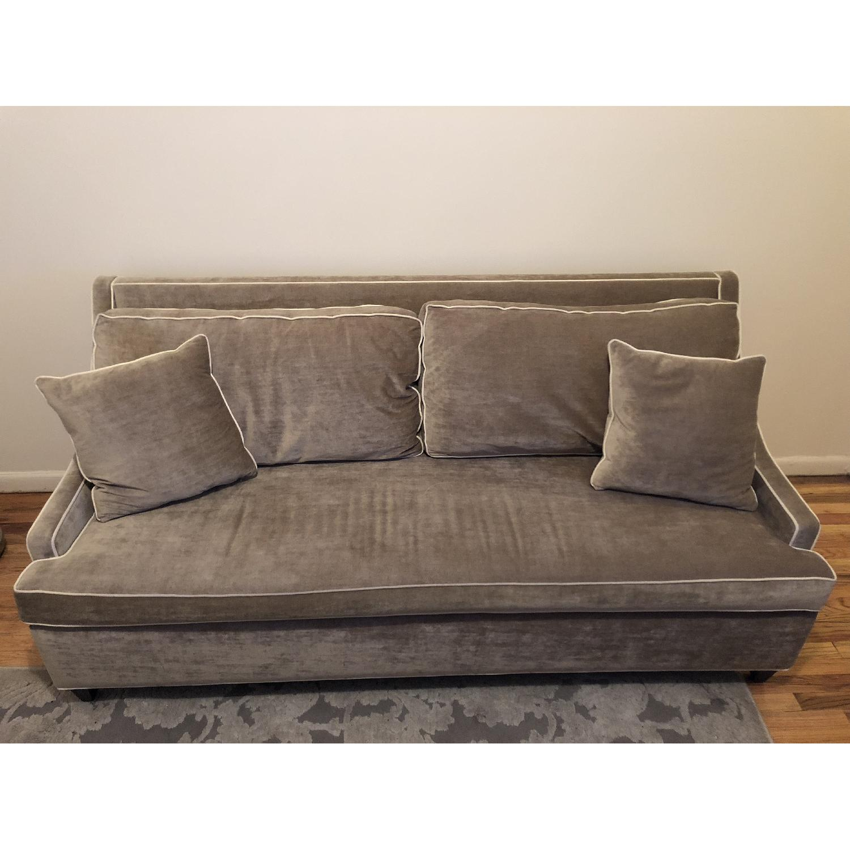 - Carlyle Light Green/Gray Velvet Sleeper Sofa - AptDeco