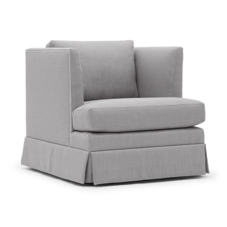 Mitchell Gold + Bob Williams Mariella Chair w/ Skirt-1