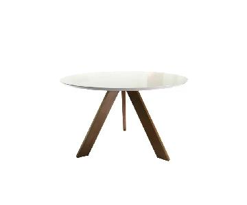 Wrought Studio Ramsay Mid Century Modern Wood Dining Table
