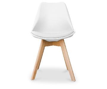 Deswin Scandinavian Design Chair w/ Cushion in Plastic Matt