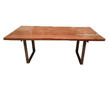 Industrial Style Custom Wood Table