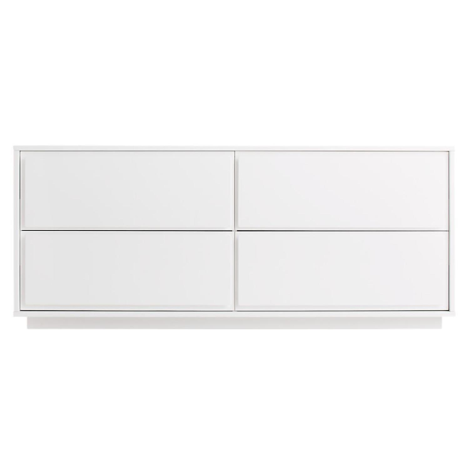 CB2 Gallery White 4 Drawer Low Dresser