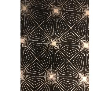 Carolina Weavers Finesse Collection Black & Gold Area Rug