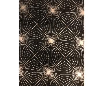 Carolina Weavers Finesse Collection Black & Gold Area Rug