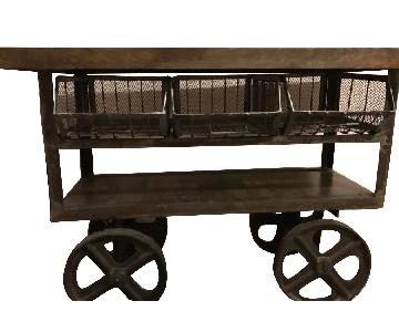 Coffee/Entry/Console Table Cart on Wheels