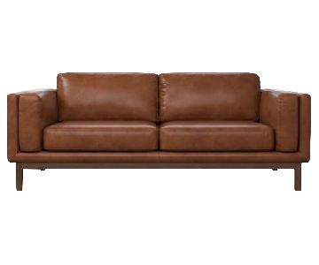 West Elm Dekalb Leather Sofa