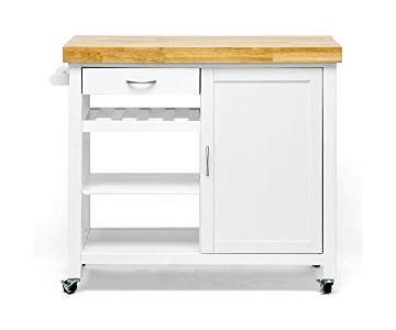 White Modern Kitchen Cart