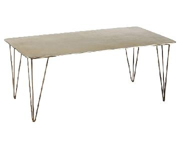 West Elm Hairpin Brass Plated Coffee Table