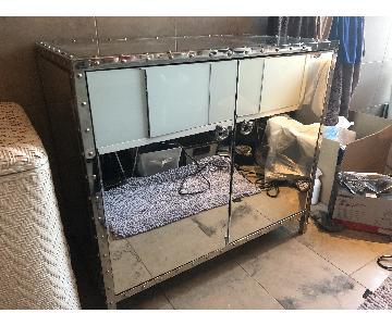 Mirror Cabinet w/ Silver Accent