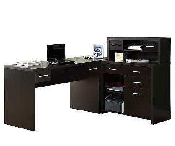 Raymour & Flanigan Caressa L-Shaped Desk