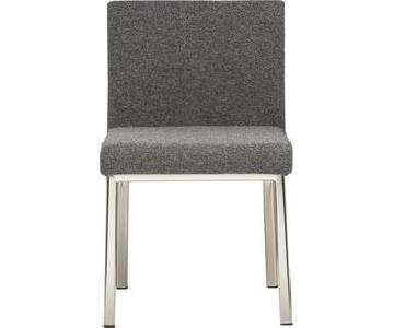 CB2 Grey Tweed Dining Chairs