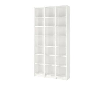 Ikea Billy White Bookcases w/ Height Extension
