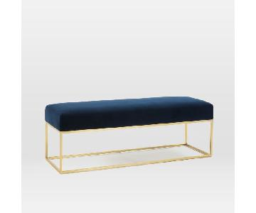 West Elm Performance Velvet Bench