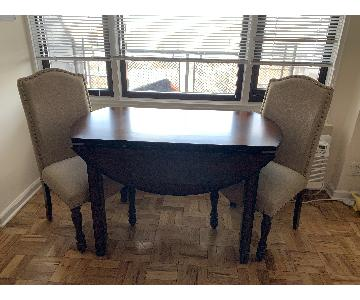 Macy's Branton Round Table w/ 2 Upholstered Chairs