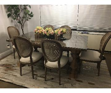 Restoration Hardware Rectangular Dining Table w/ 6 Chairs