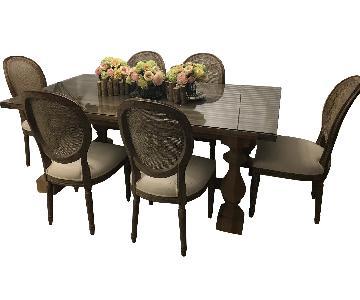 Restoration Hardware Rectangular Dining Table w/ 6 Chairs