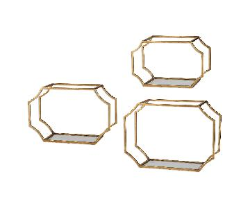 Uttermost Lindee Gold Wall Shelves