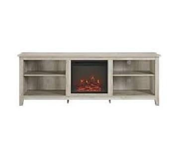 Walker Edison Essential TV Stand w/ Fireplace