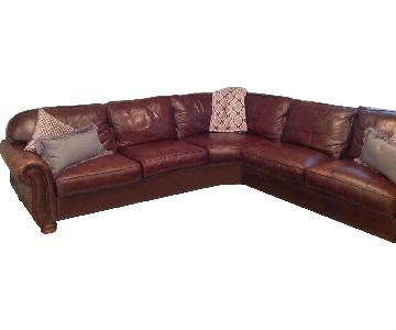 Thomasville 3 Piece Leather Sectional Sofa